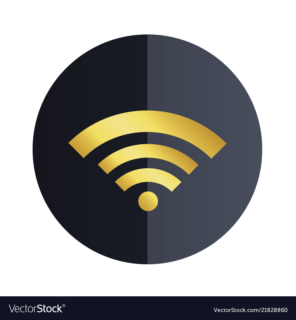 Wifi icon black circle background image