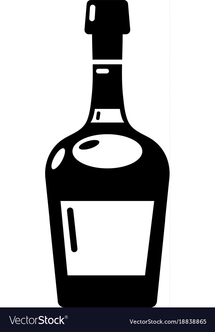 Alcohol icon simple style