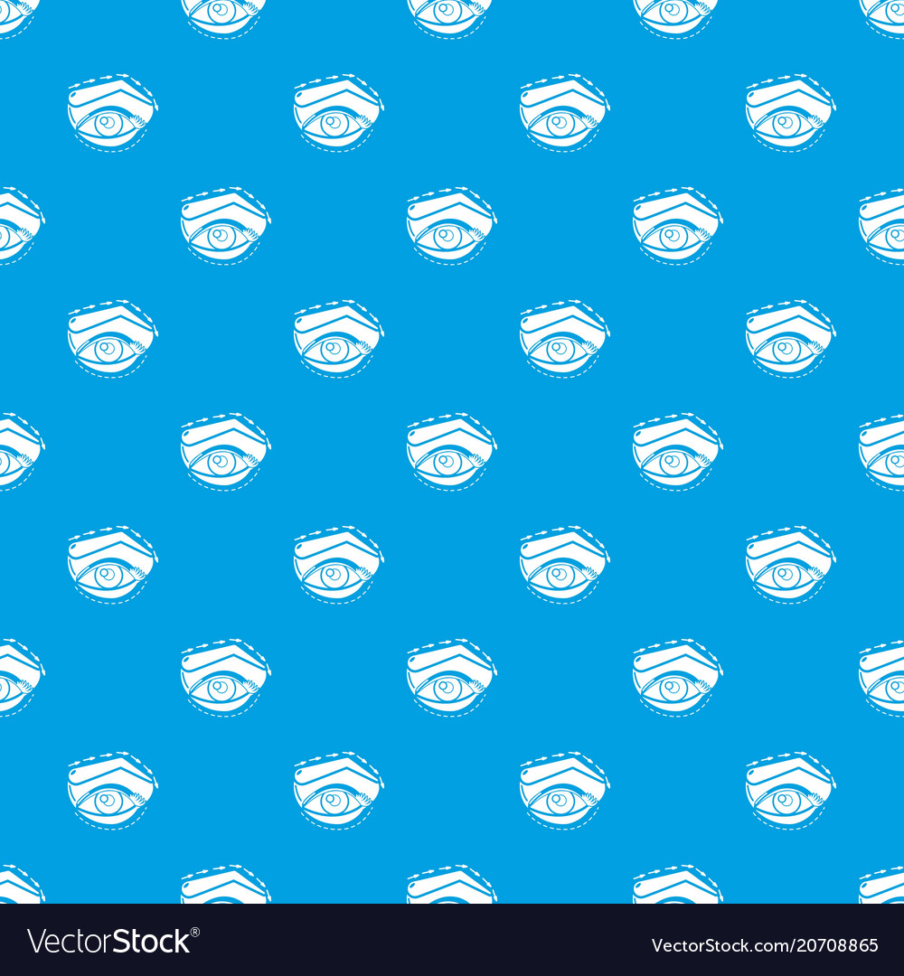 Eyelid elevation pattern seamless blue vector image