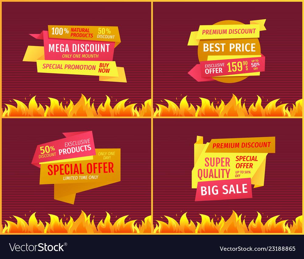 Mega sale offers on geometric shape shopping label
