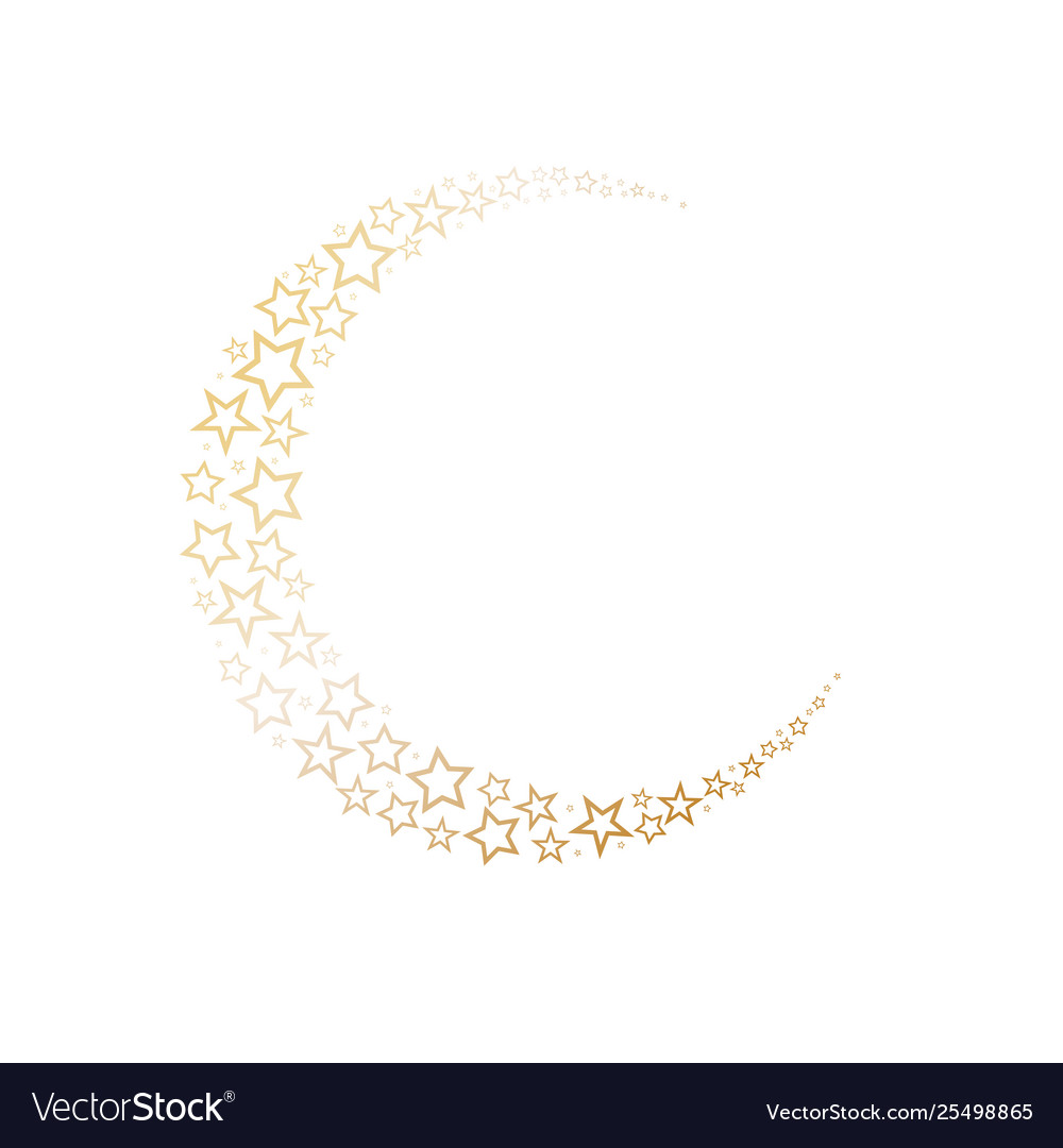 Moon decorated on stars symbol