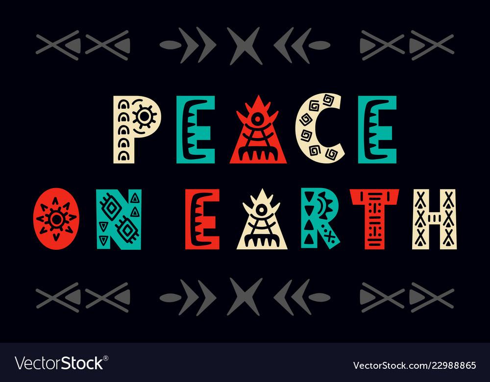 Peace on earth christmas greeting card