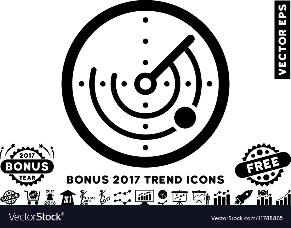 Radar Flat Icon With 2017 Bonus Trend