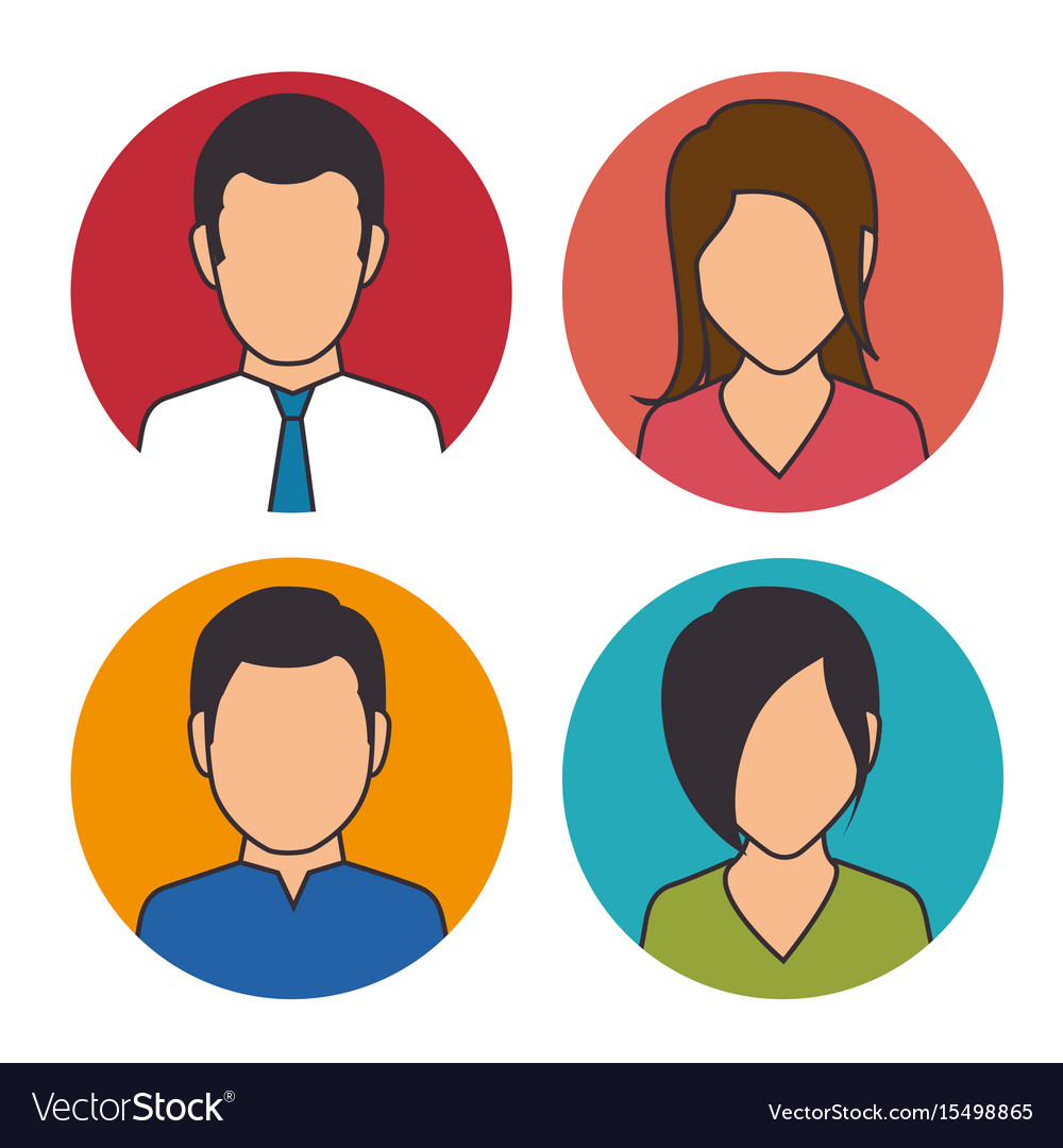 set of business people icon royalty free vector image rh vectorstock com  people icon vector png