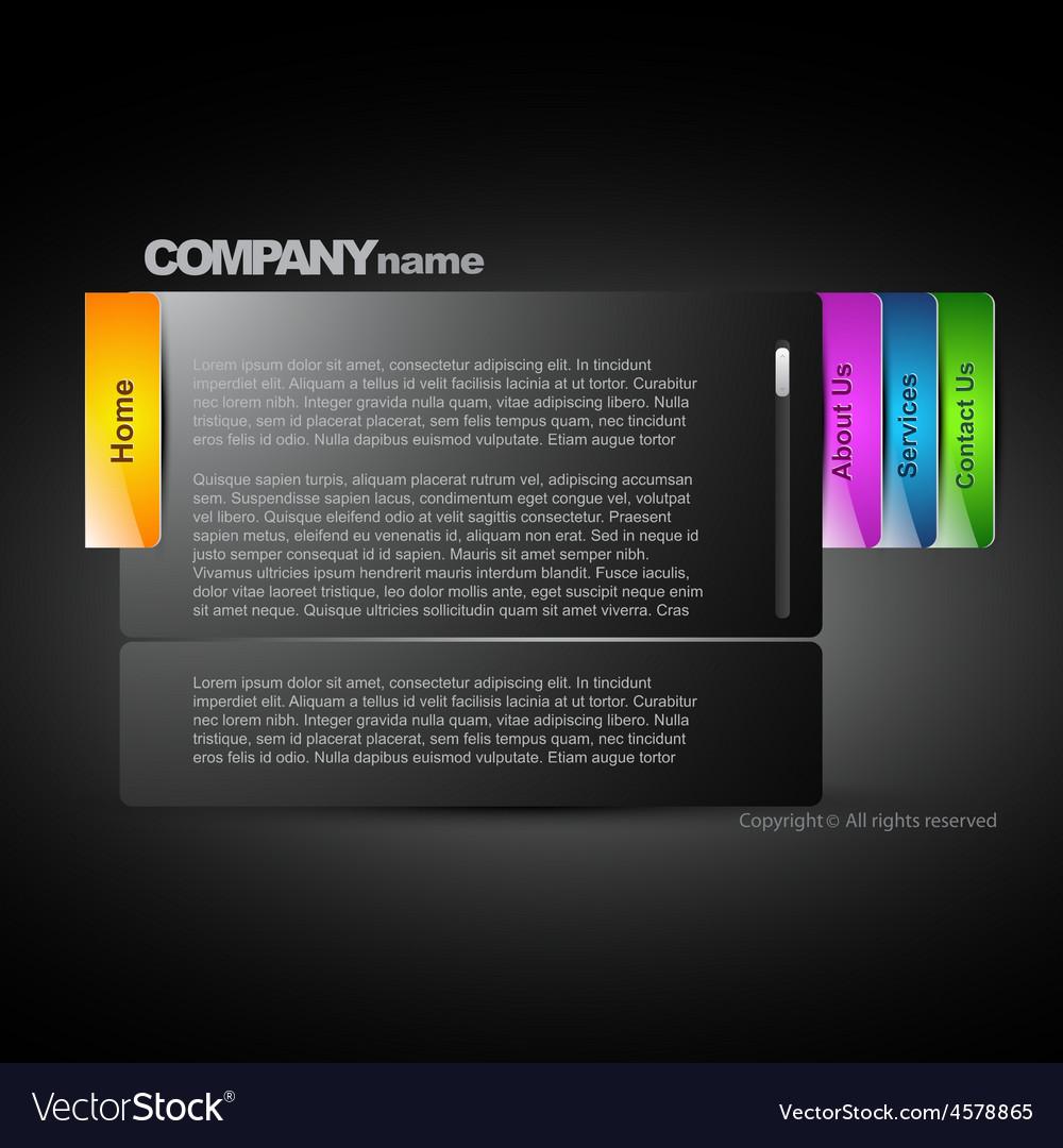 Stylish dark web layout