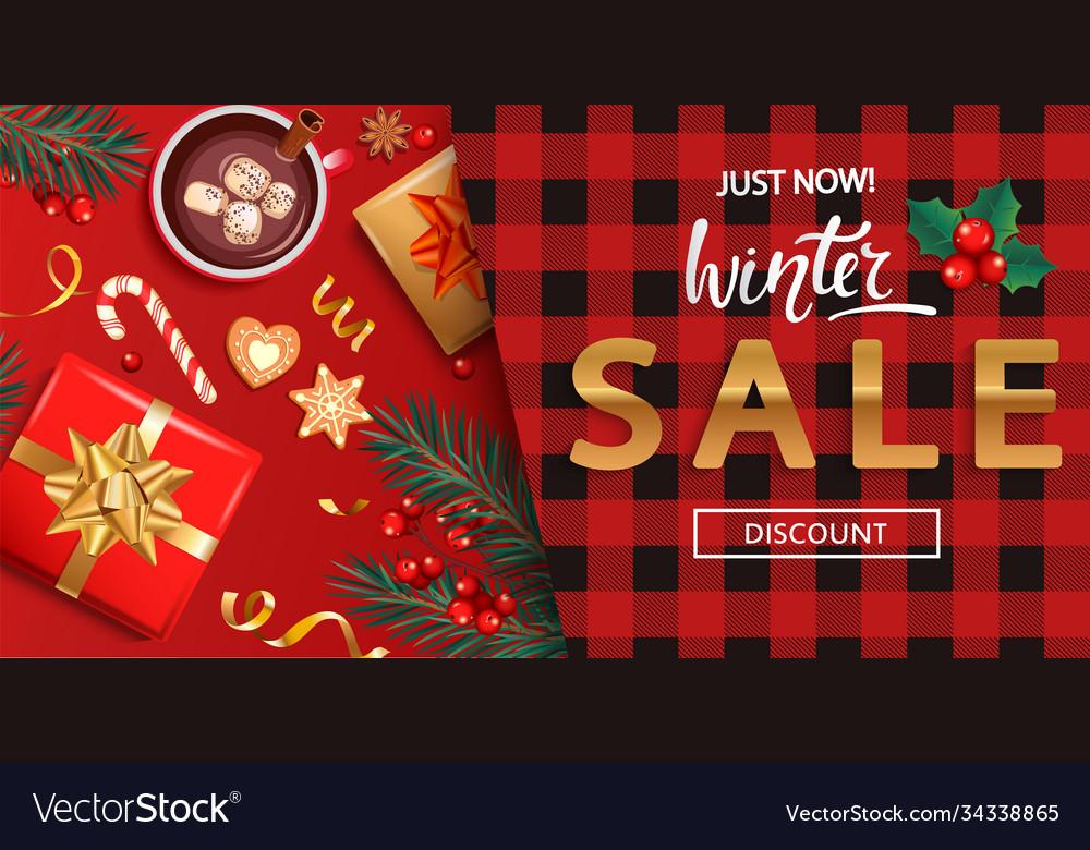 Winter salediscount card for 2021 shopping season