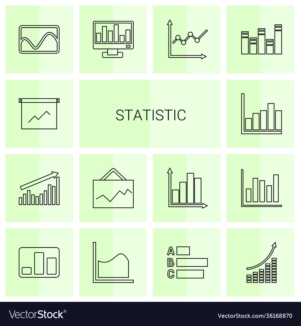 14 statistic icons