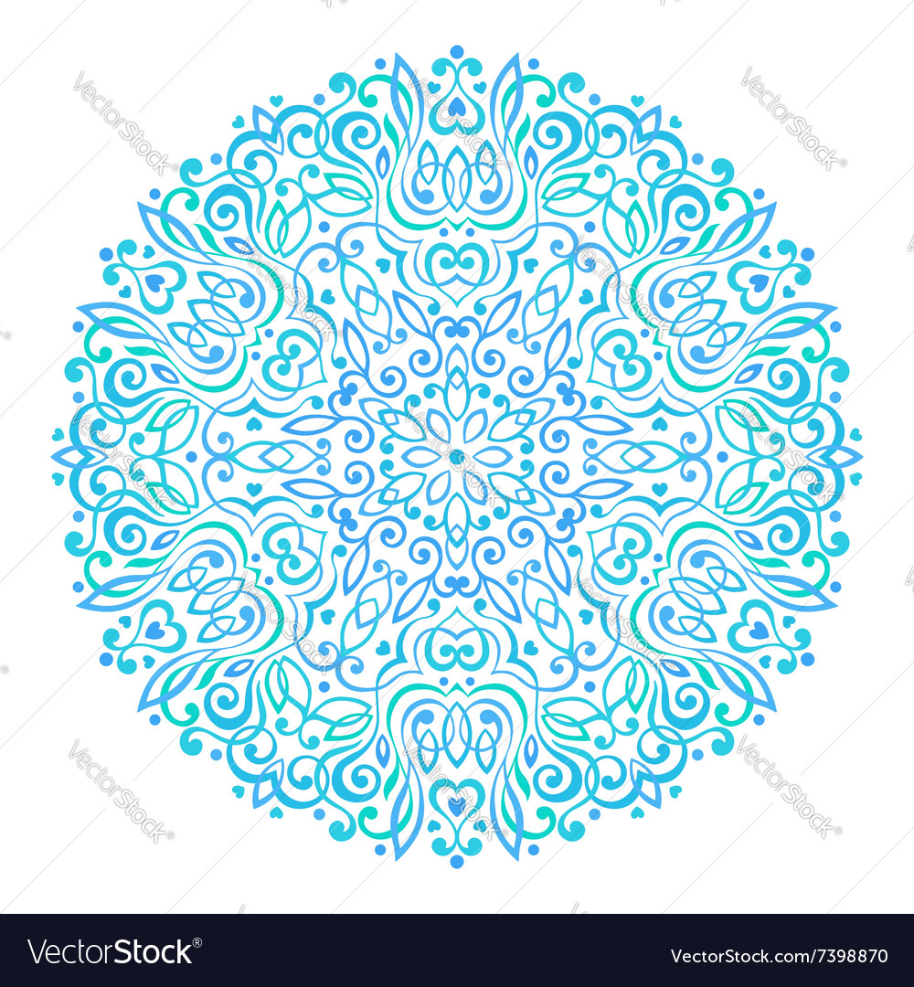 Abstract Flower Mandala Decorative ethnic element
