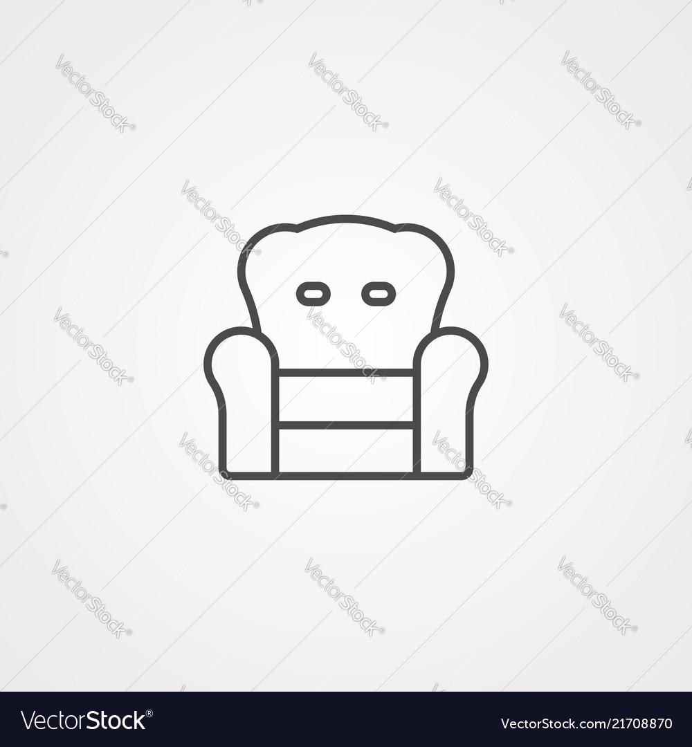 Armchair icon sign symbol
