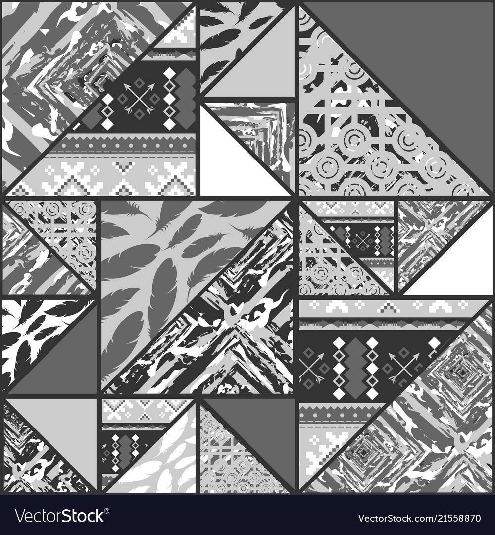 Boho Grayscale Wallpaper Royalty Free Vector Image