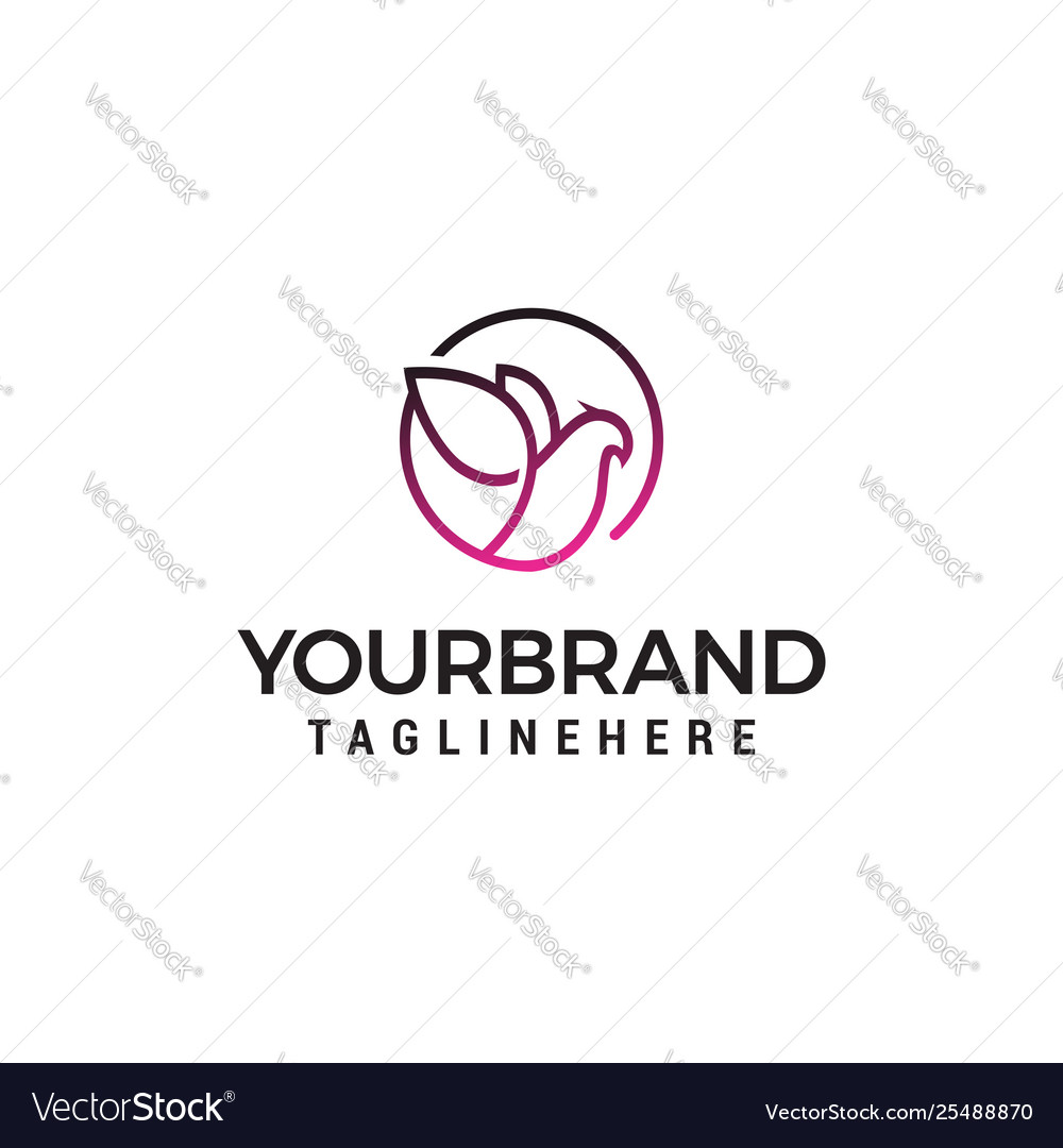 Dove elegant logo design concept template vector