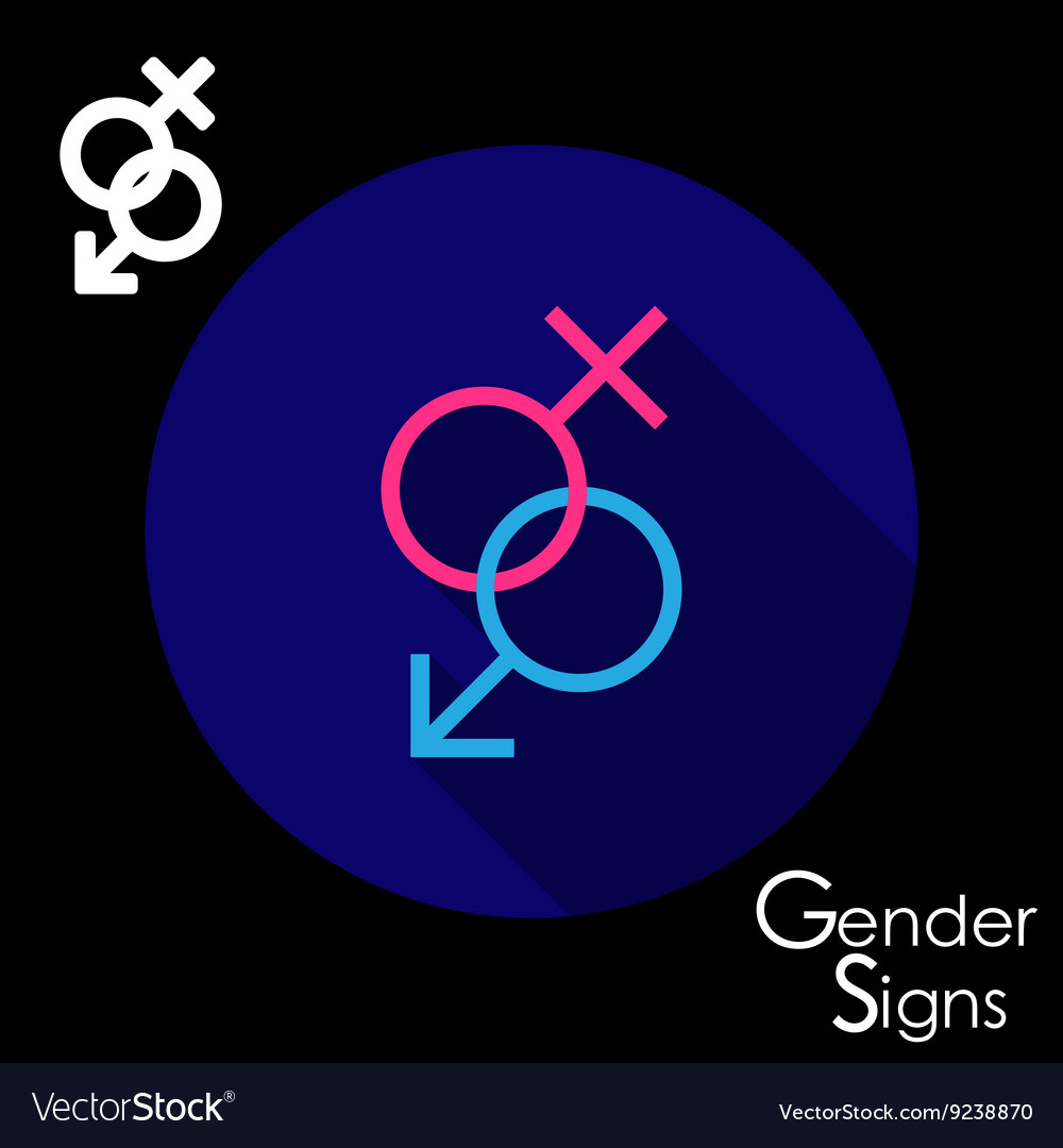 Gender signs for male and female