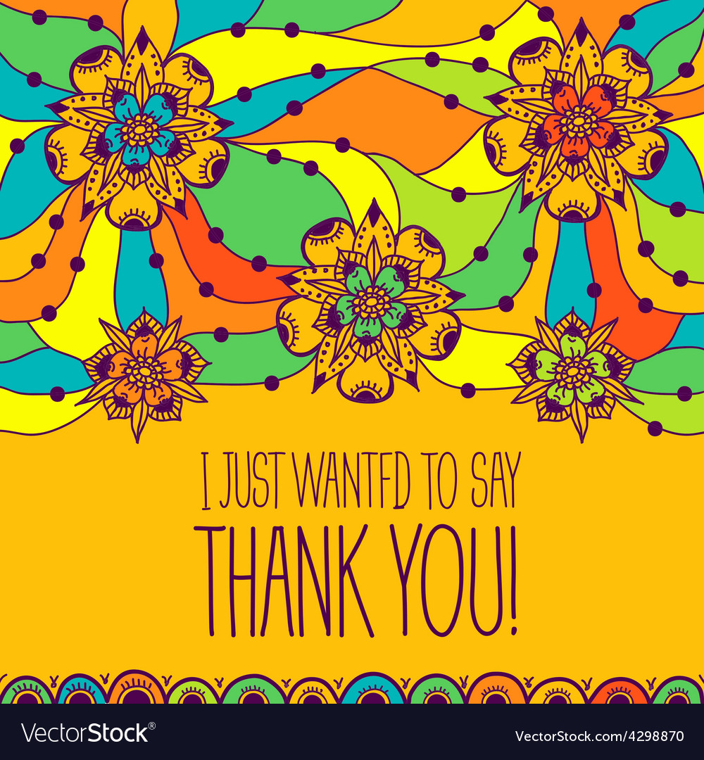 Greeting card i just wanted to say thank you vector image m4hsunfo