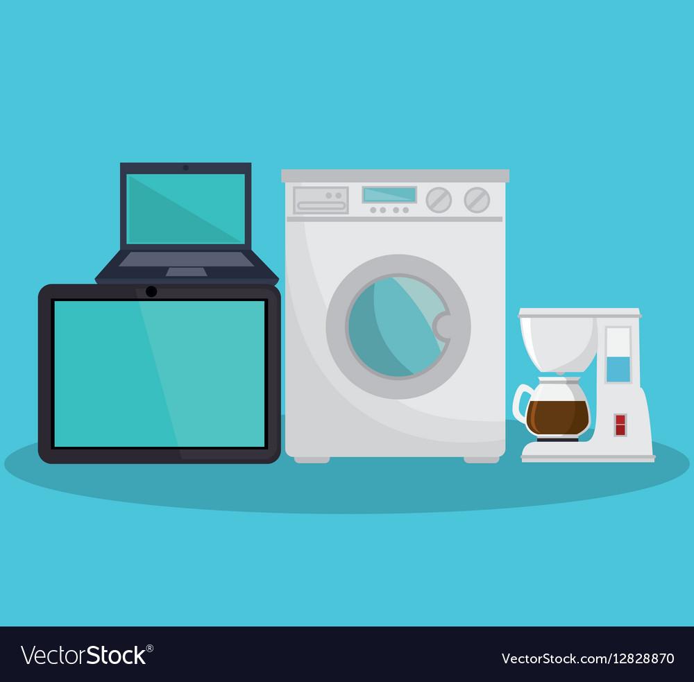 Home appliances set icons
