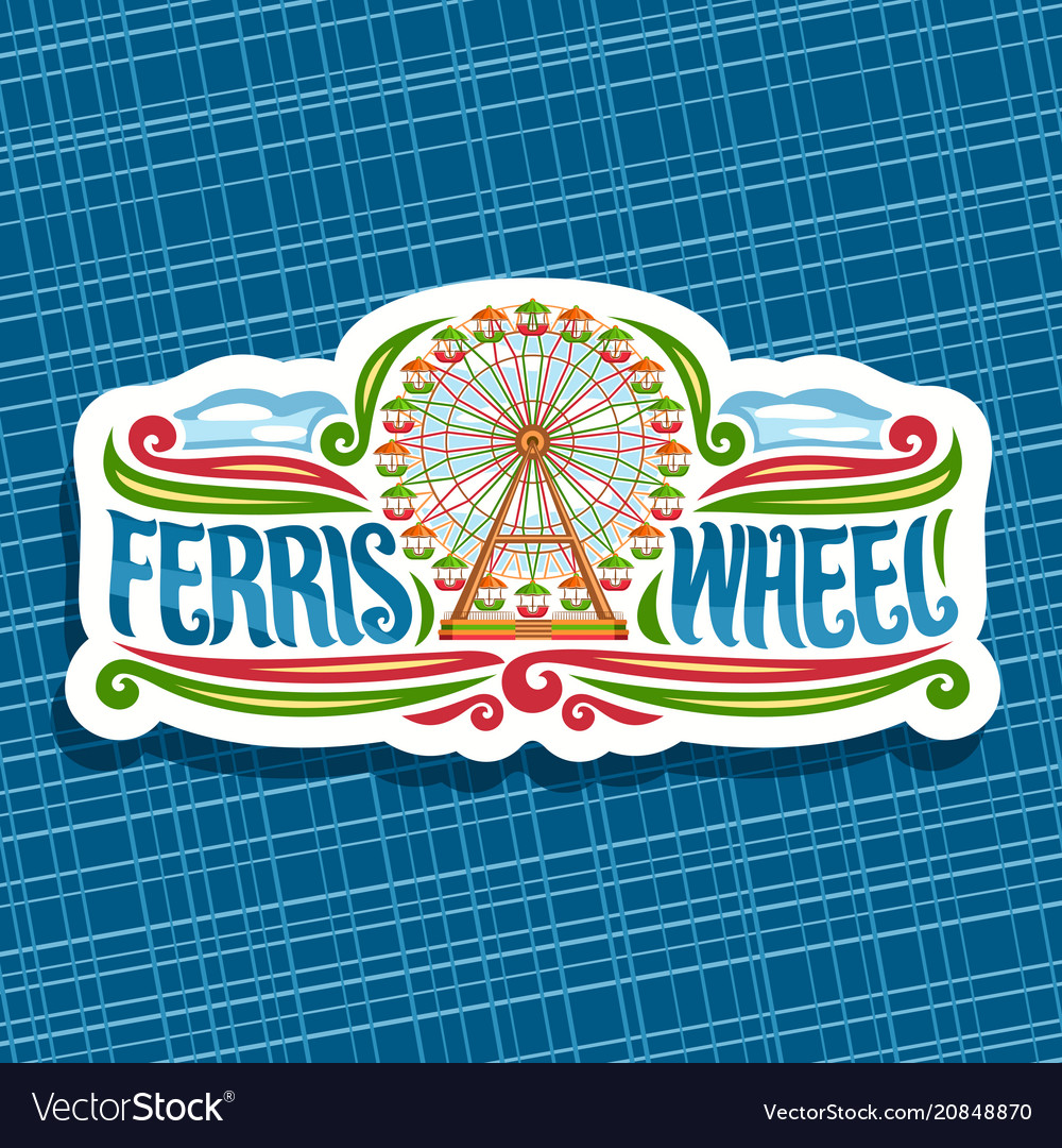 Logo for ferris wheel vector image