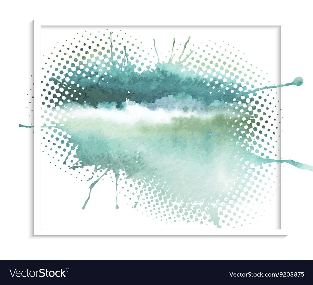 Abstract watercolor splash vector image
