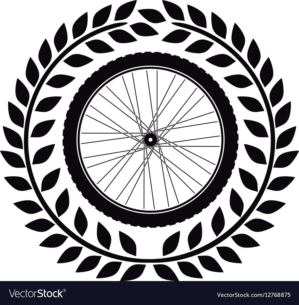 Bike wheel tire vector image