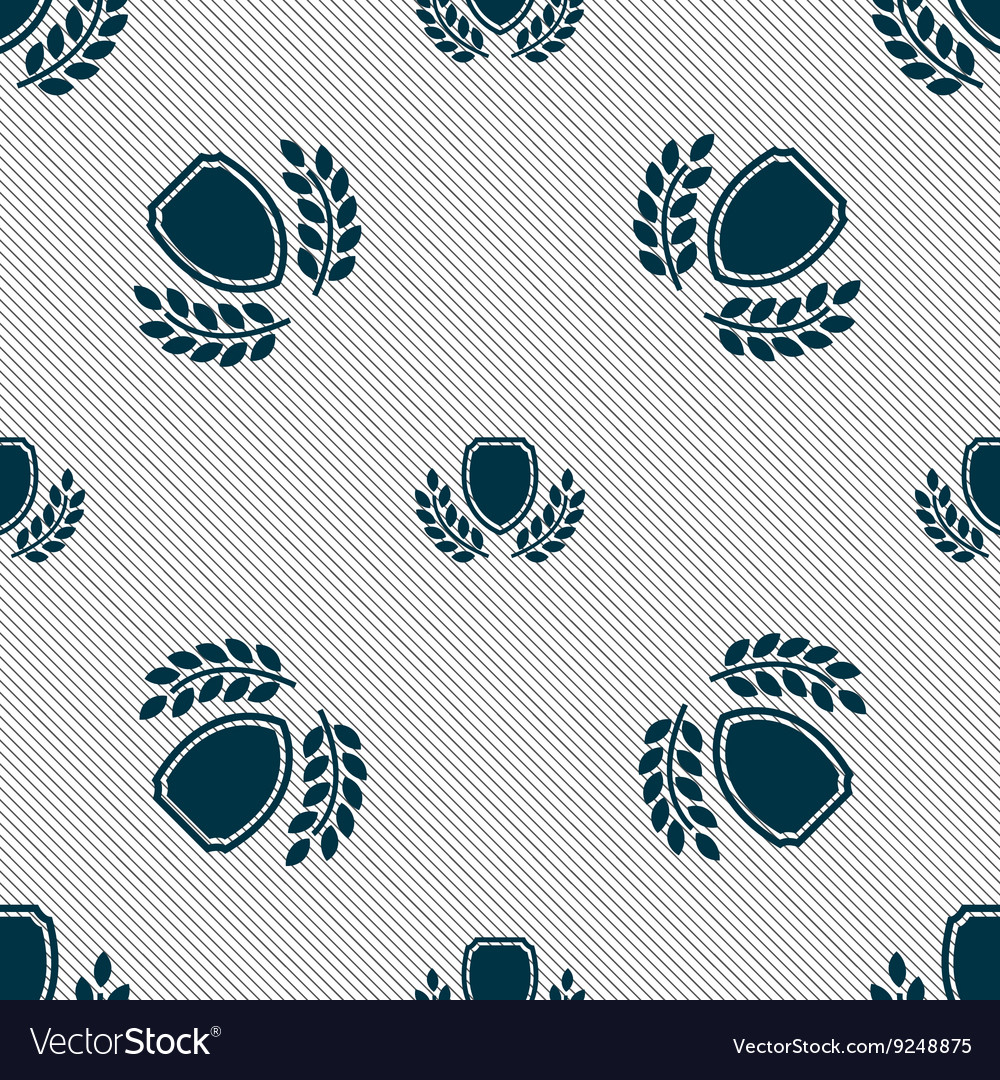 Blank award medal icon sign Seamless pattern with
