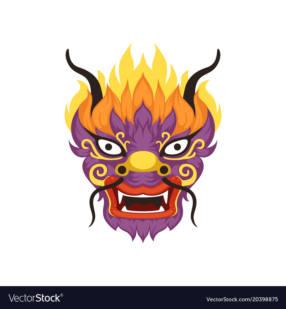Dragon head element of chinese traditional boat