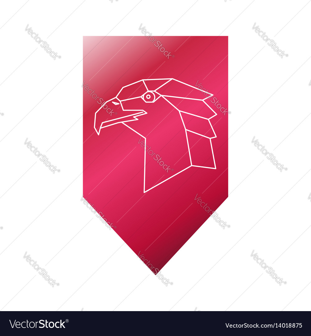 Eagle polygonal head sign