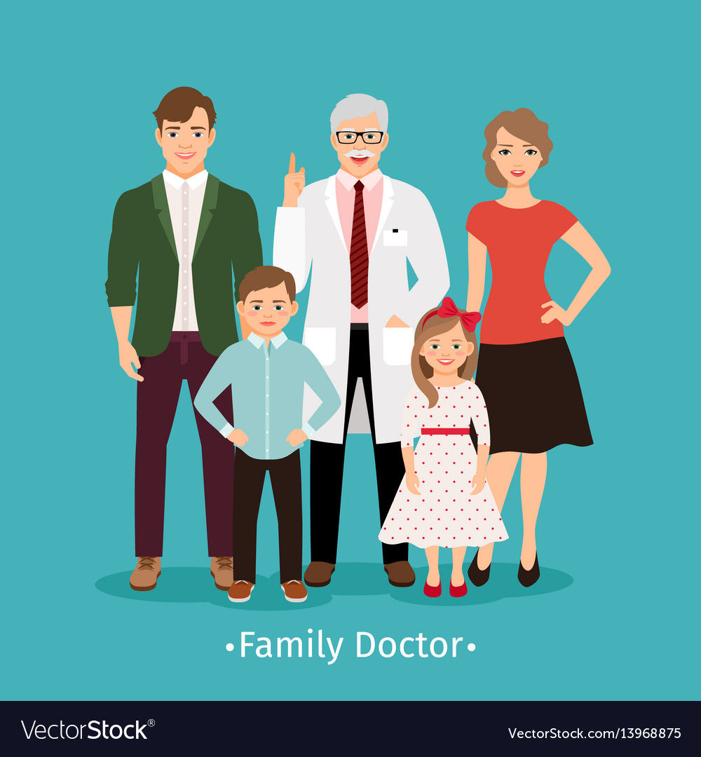 family doctor medicine concept royalty free vector image