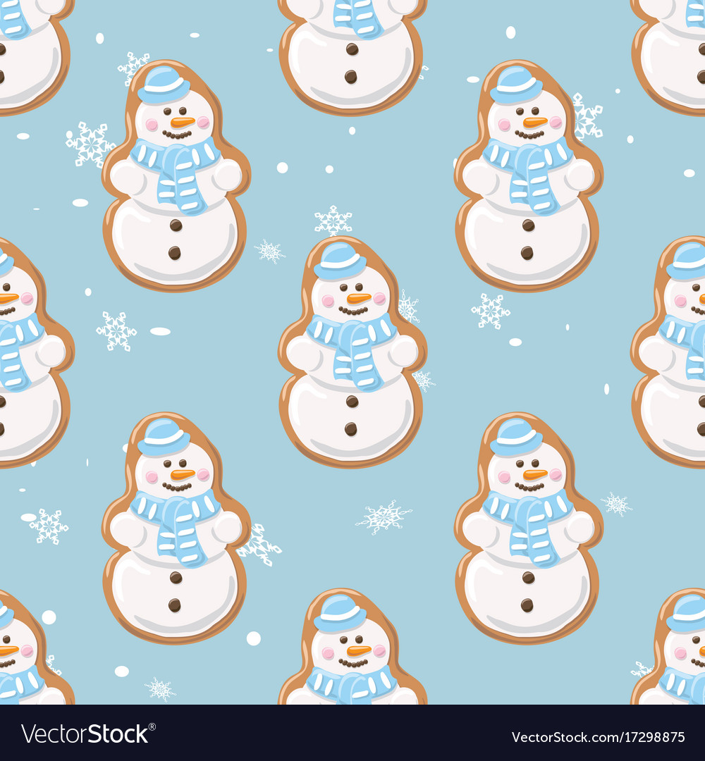 Ginger cookies seamless patternchristmas