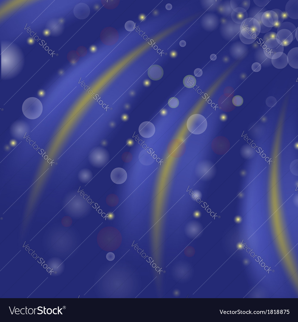 Starry blue background vector image
