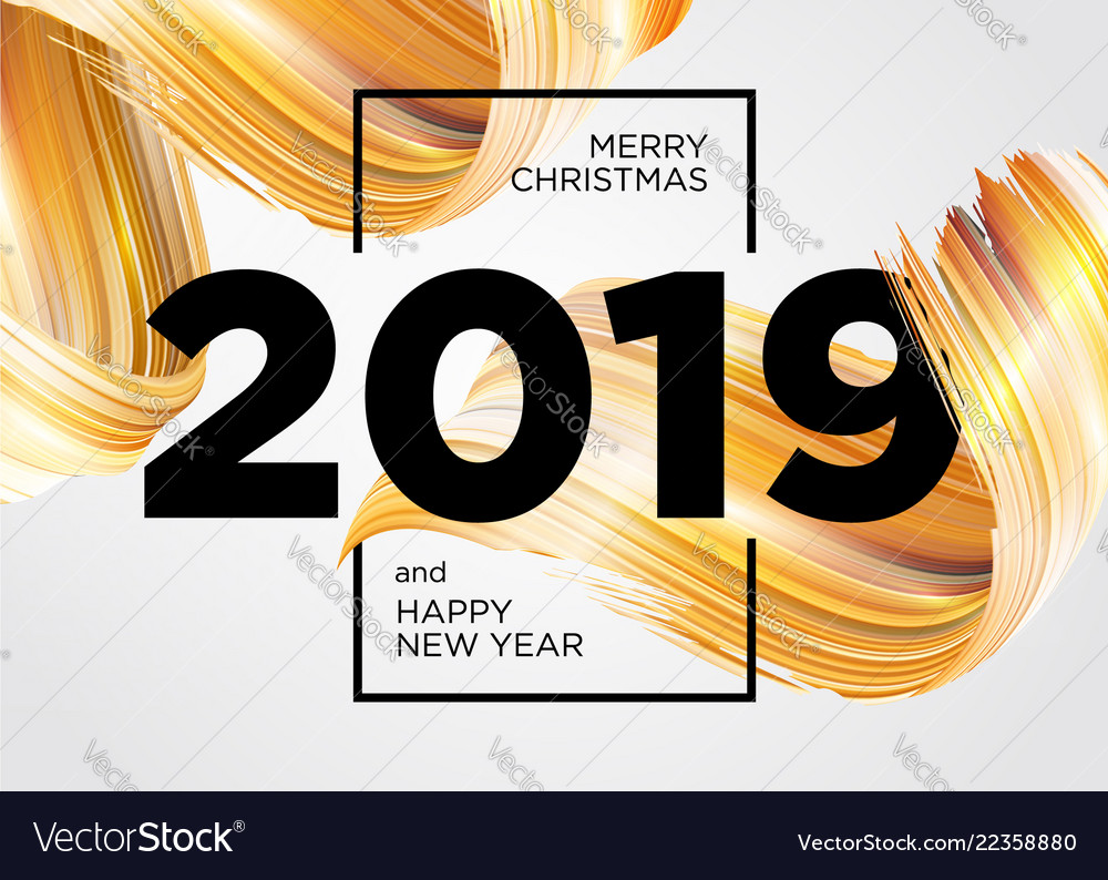 2019 merry christmas and happy new year card