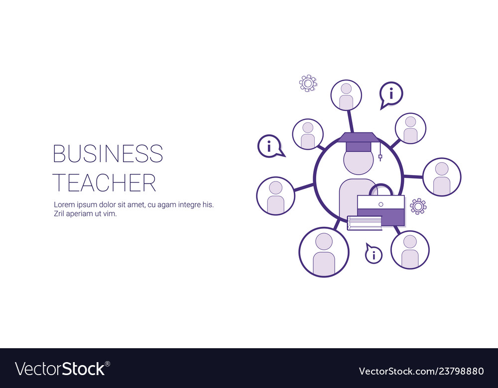 Business teaching coaching training concept banner
