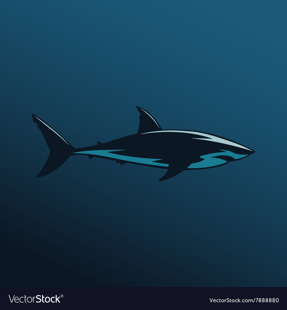 Great White Shark Color Royalty Free Vector Image