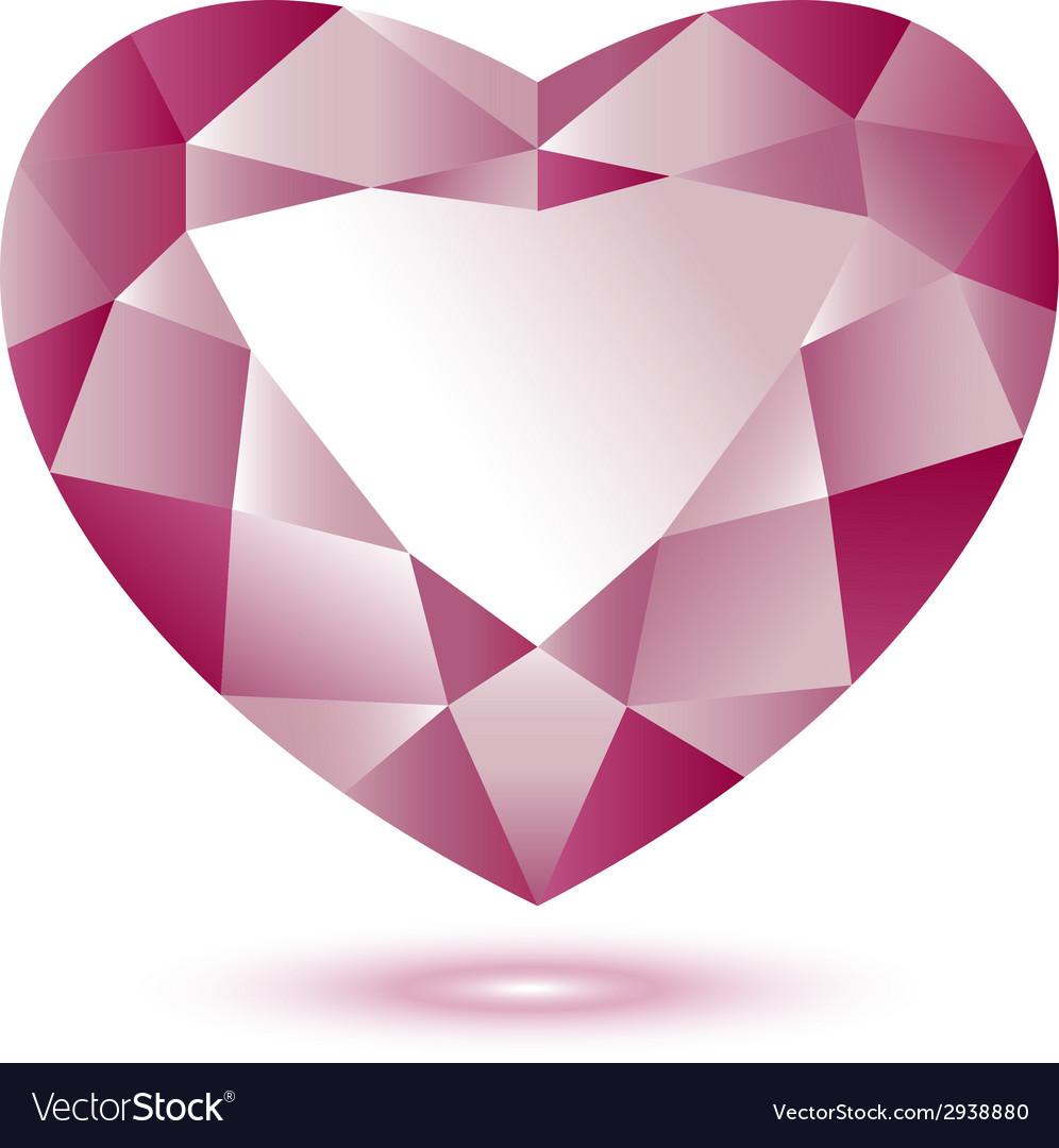 Heart Shape gem vector image