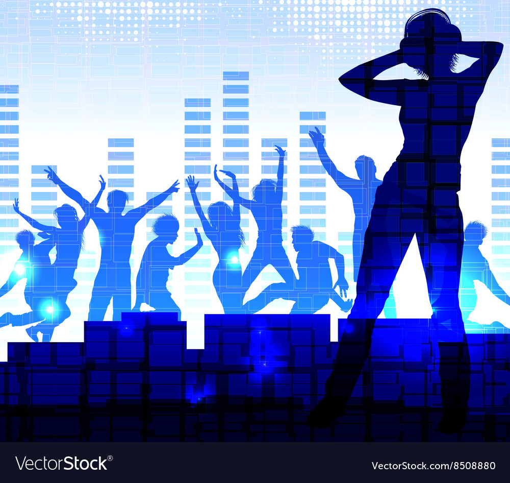Night Club Neon Lit Background vector image