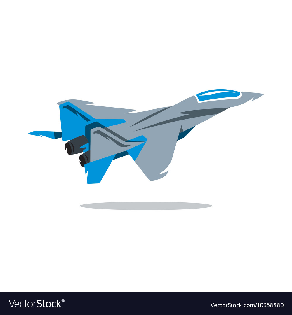 Russian Fighter plane Cartoon