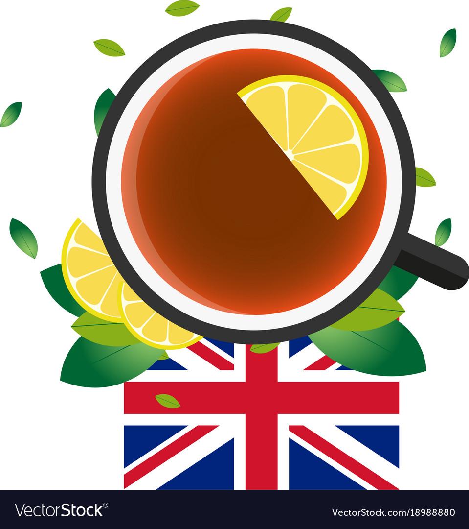 Tea time cup of tea with lemon english tea