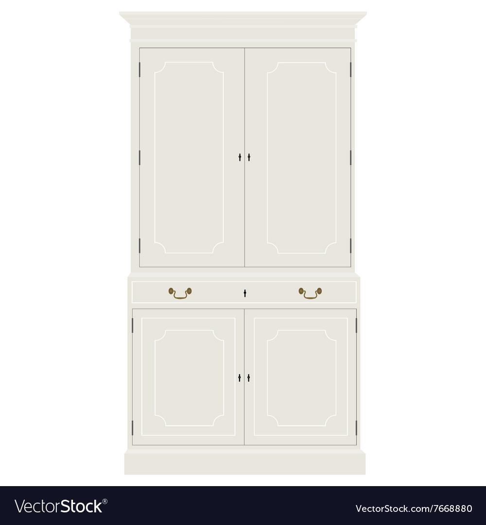 White vintage cabinet