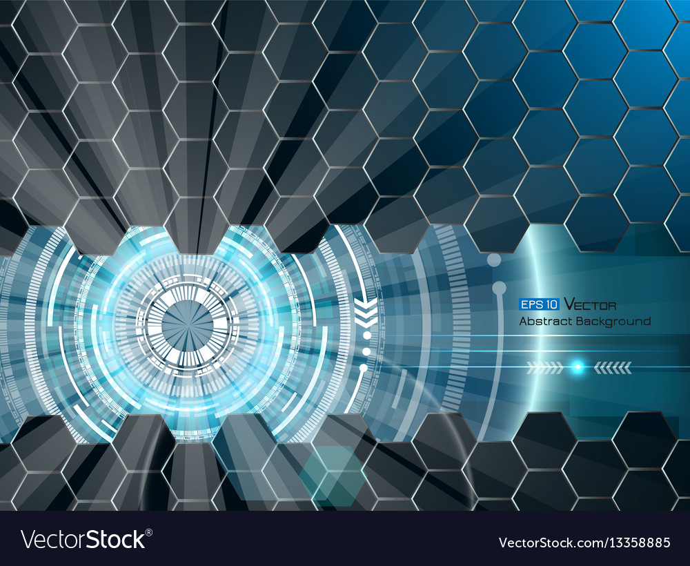 Abstract futuristic glow 3 vector image