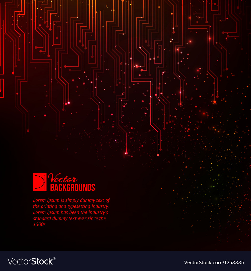 Abstract red lights vector image