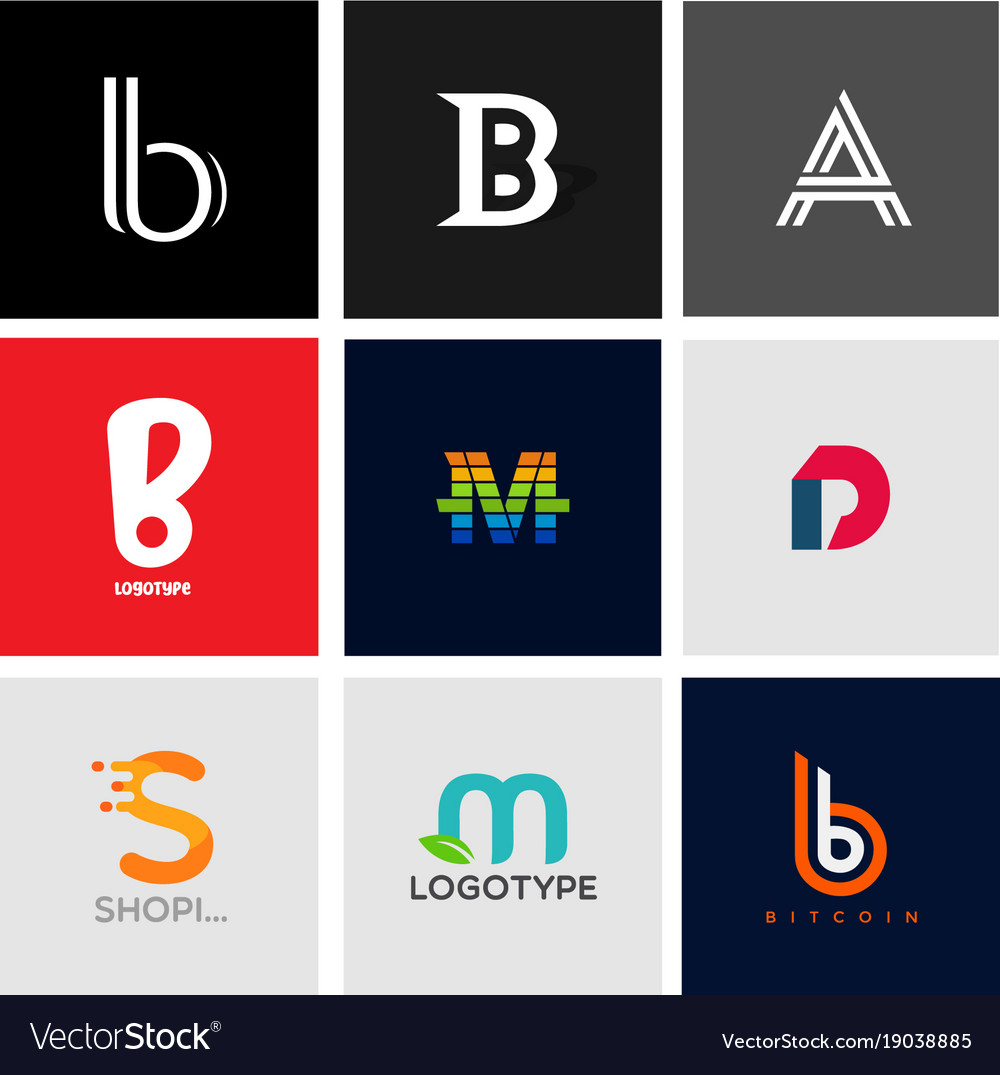 Alphabet logotype collection