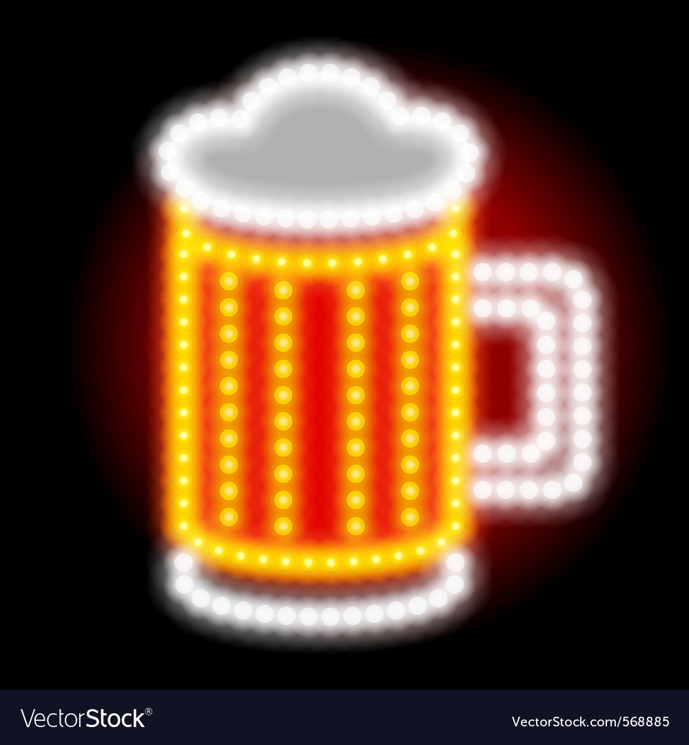 Beer neon sign vector image