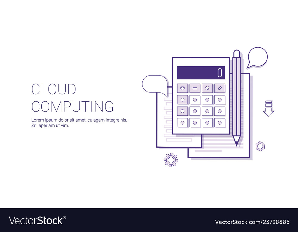 Cloud computing technology concept banner