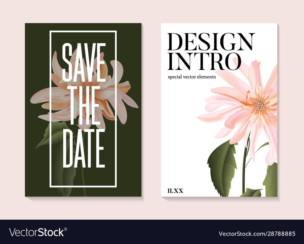 Delicate tender flower bloom on wedding text