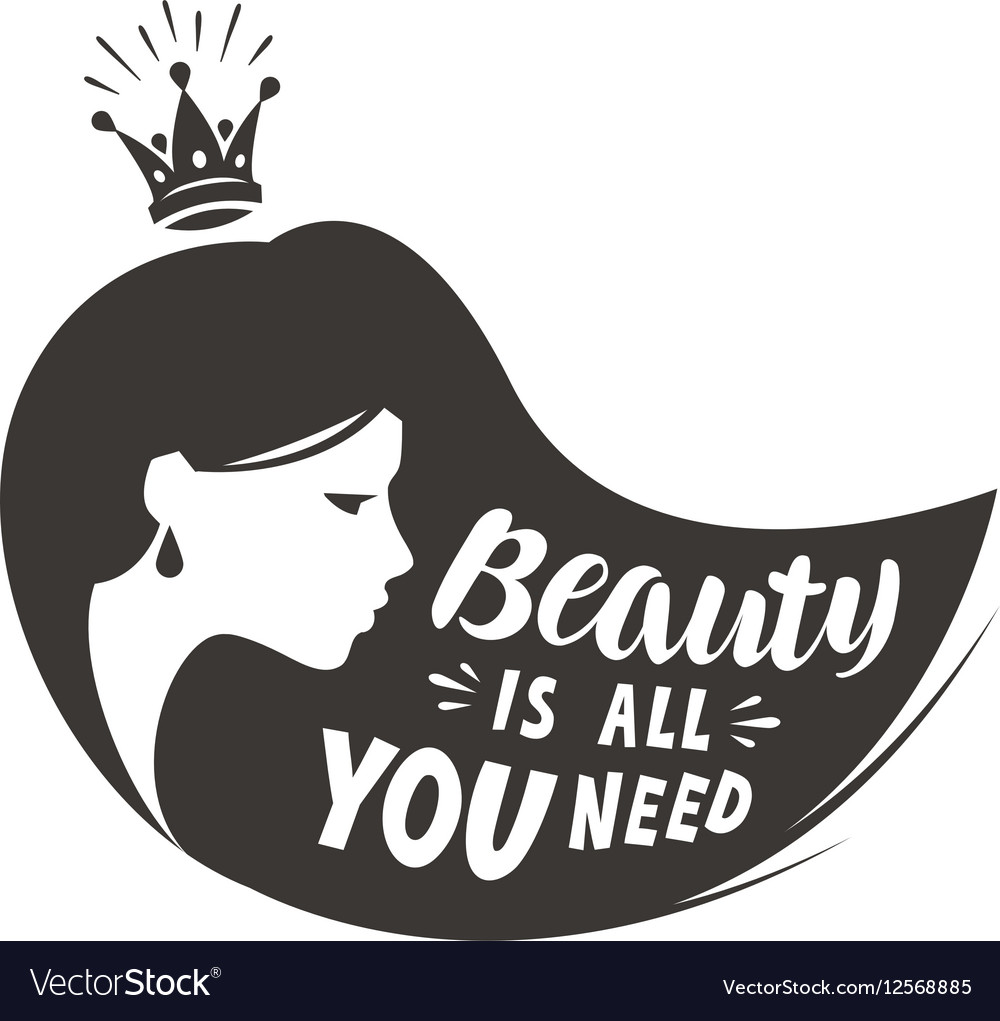 Princess or beautiful girl Lettering beauty is