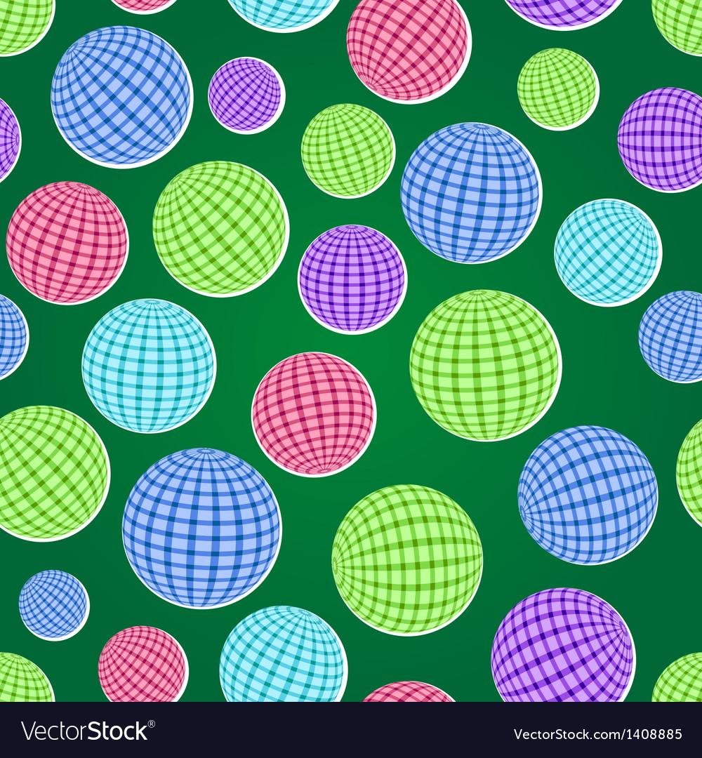Seamless pattern set with striped balls