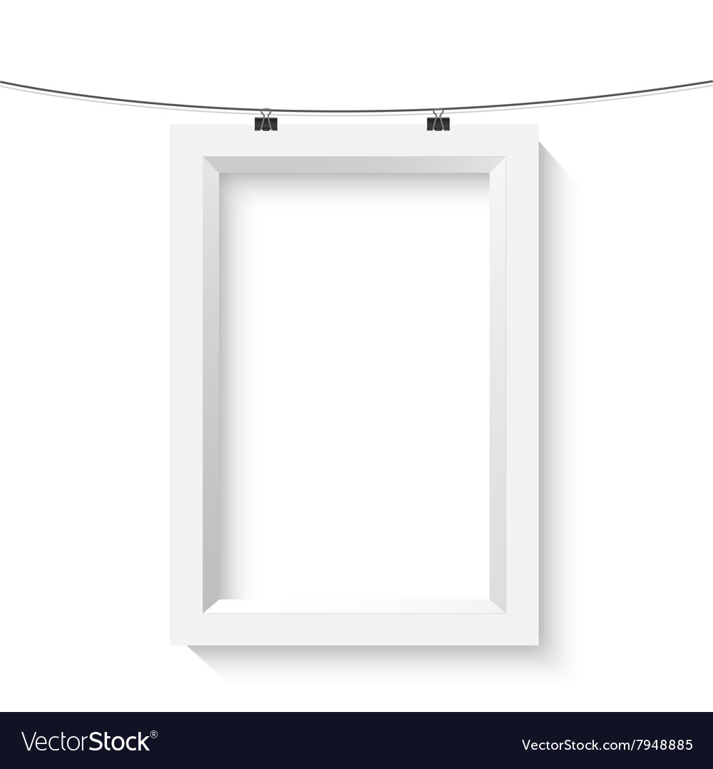 Vertical Poster Frame Mockup Realistic Royalty Free Vector