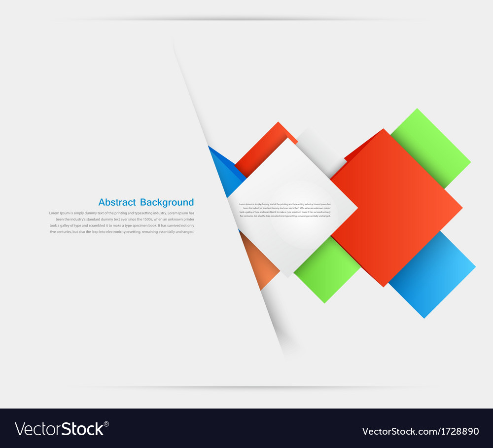 Abstract background Square and 3d object