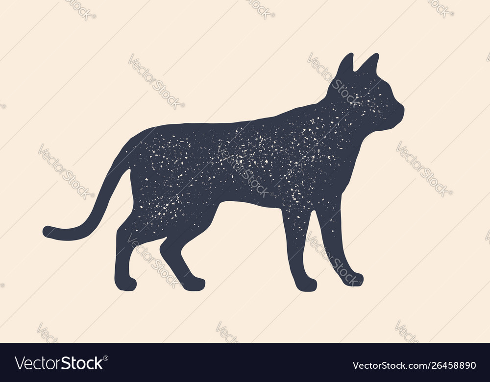 Cat silhouette concept design home animals
