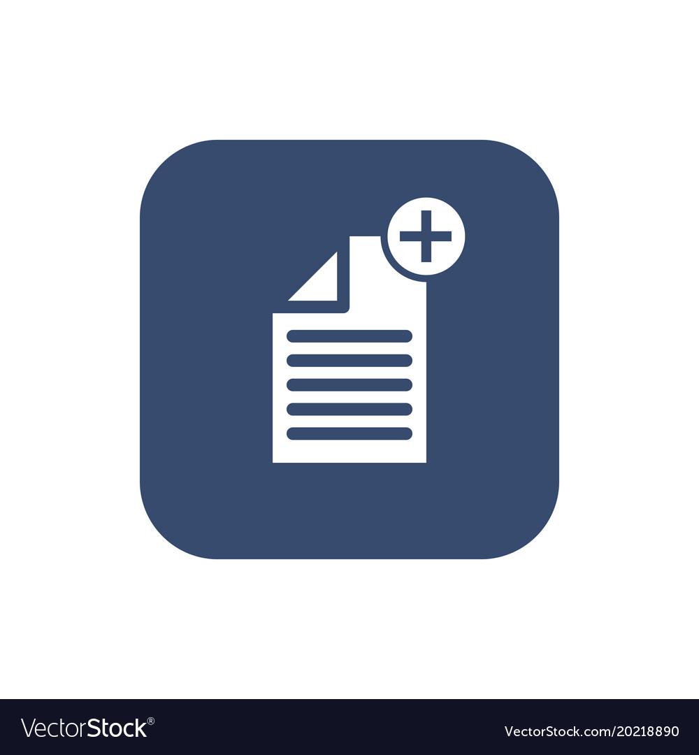 Create document- icon flat design