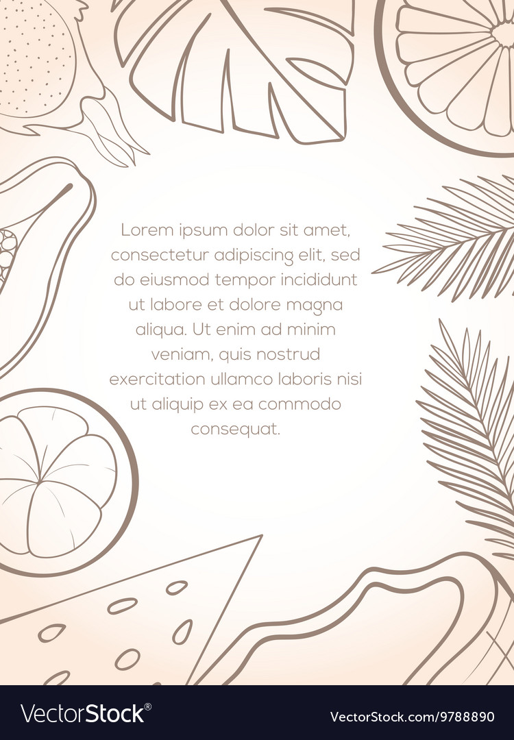 Exotic fruit invitation card
