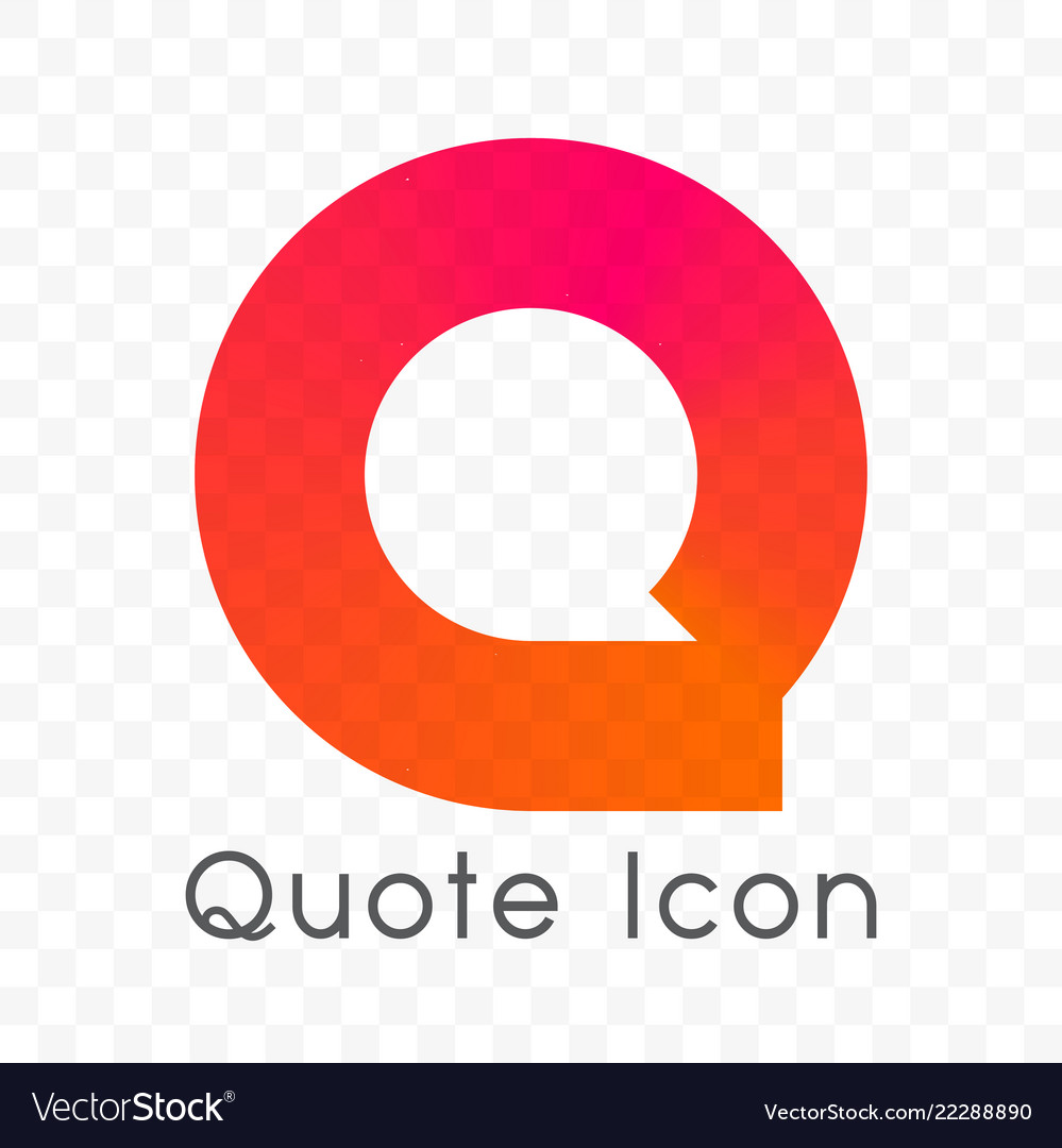 Quote chat bubble message icon
