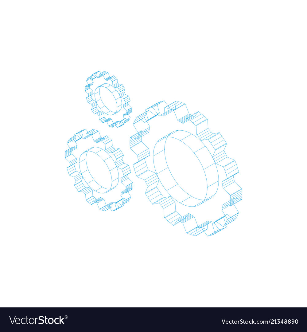 Three outline gears